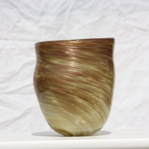 Shades of Gold Colored Vase $90