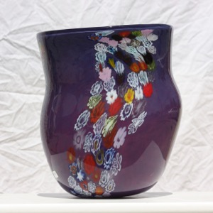 Purple with Millefiori Vase